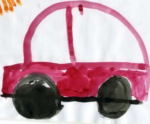 """Детский рисунок """"Наша машина"""""""